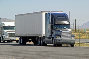 New Mexico, Usa - September 30: Big Semi Trailer Truck Driving P